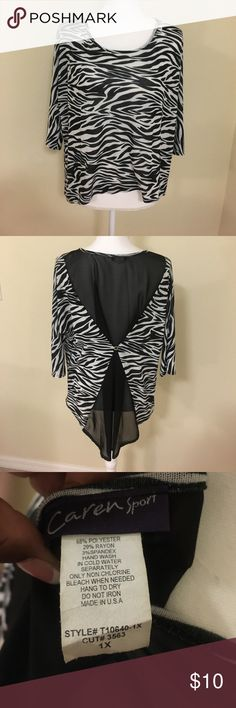 Zebra top NWOT Super cute and gorgeous back Tops Blouses