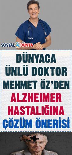 Alzheimer hastalığına Dr. Mehmet Öz'den çözüm önerisi... Alzheimer, Colon Cancer, Natural Remedies, Healthy Life, Health Care, Health Fitness, Therapy, Sports, Facts