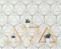 Geometric Pattern Removable Wallpaper A006