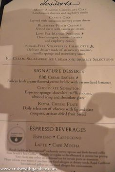 Royal Caribbean Beer Prices  Awesomeness  Pinterest  Caribbean Adorable Allure Of The Seas Main Dining Room Menu Design Decoration