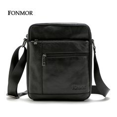 Fonmor 2016 New Men's bags Cowhide Leather Shoulder Bag Multiple Zipper Leisure Bag Man Cross body Travel bags ** Continue to the product at the image link.
