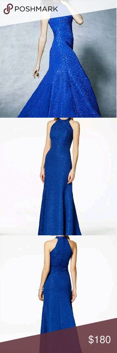 B Michael Pebble Textured Mermaid Gown Grab the center stage at your special occasion in this beautiful textured gown from B Michael. Store display, recommend to wash. B Michael Dresses Prom
