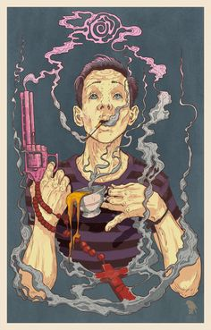 Fuk Me Gently - self-portrait by Grzesiek Wróblewski, via Behance