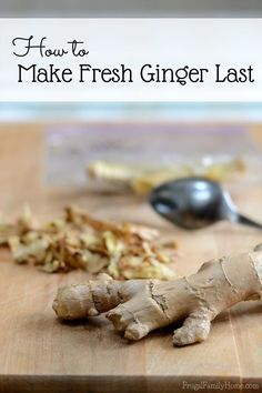 Do you ever have ginger go bad waiting to be used in the next recipe? If you do, I've got a solution for you. Come on over and see how to make fresh ginger last longer.