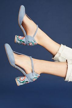 Chelsea Crew Embroidered Frenchie Heels