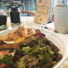 Turkey ham's & a cup of Hot English Breakfast Tea