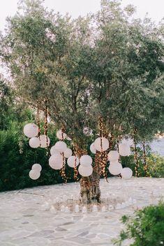 Multicultural Destination Wedding In Greece Sotiris Tsakanikas 37 Santorini Wedding, Greece Wedding, Italy Wedding, Greece Party, Mykonos, Wedding Mallorca, Wedding Events, Wedding Ceremony, Wedding Arches