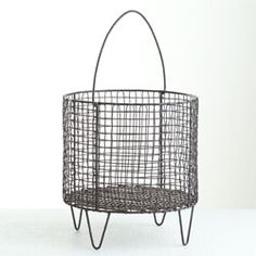 Iron Mesh Basket - Large - New from Wisteria