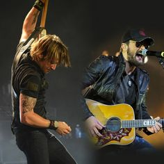 """Keith Urban's new single is """"Raise 'Em Up"""" featuring his pal Eric Church."""