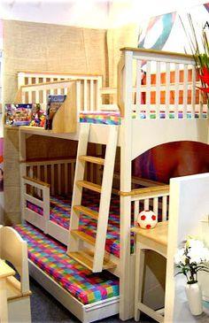เตียงไม้จริงคุณภาพสูง-เตียงสองชั้น-เฟอร์นิเจอร์ไม้: เตียง , เตียงสองชั้น - เตียงสามชั้น