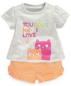 Baby Girl Stuff: First Impressions Baby Girls' Top & Shorts - Kids ...