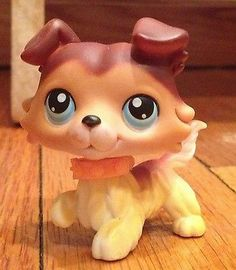 RARE Original Littlest Pet Shop Collie 58 Sage
