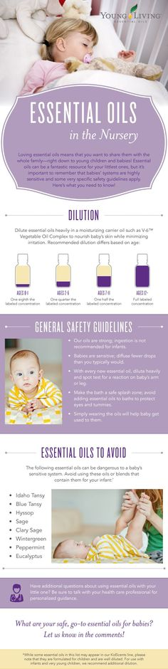 Essential Oils in the Nursery Infographic ~ Young Living - Babies and Essential Oils