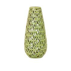 Sarina Green Cutwork Vase
