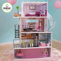 Dollhouse Beachfront Mansion Kidkraft Doll House Furniture Elevator Wooden
