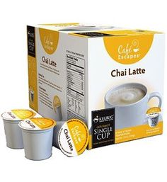 Cafe Escapes Chai Latte K-Cups for Keurig Coffee Machines - 16 Pack - http://teacoffeestore.com/cafe-escapes-chai-latte-k-cups-for-keurig-coffee-machines-16-pack/
