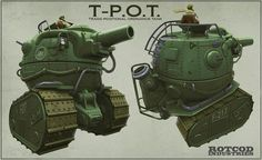 Race For The Globe - T-POT Tank Design