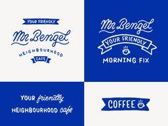 Mr Bengel cafe logo design branding script typography coffee