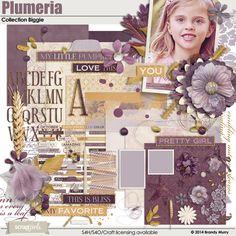 Plumeria Collection Biggie Digital Scrapbooking Kit by Brandy Murry   ScrapGirls.com