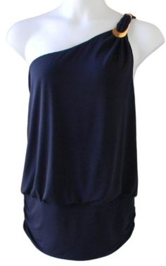 Baby Phat Plus Size Women's One Shoulder Asymmetrical Top (3X Plus, Navy) Baby Phat. $39.50. Save 19%!