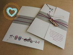 Essa é só uma das maneira que a Catita desenha a história de amor no convite de casamento.  Se quiser saber mais e conhecer outros estilos dá uma espiadinha no site: www.catitaconvites.com