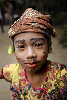 Sasak boy. A young boy using traditional costume of Sasak Tribe in Lombok Island, Indonesia.