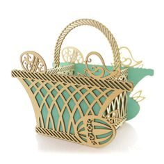 Basket Centerpiece Easter Decor