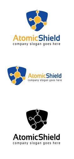 Atomic Shield Logo. Logo Templates. $35.00