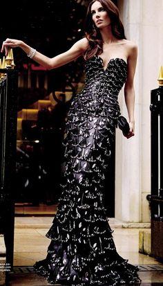 armani black and silver dress vestidos