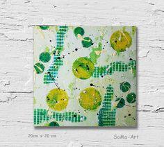 Acrylmalerei - Acrylbild auf Papier **Farbmix Serie 12** - ein Designerstück von SoMa-Art bei DaWanda