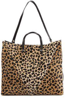 Clare V. Women's Simple V Tote Bag Leopard