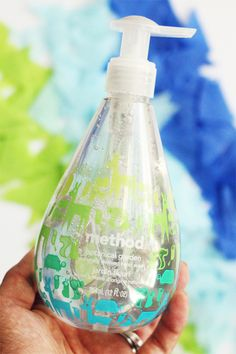 Method Hand Soap Packaging: BFO re-fill packages up-cycle the other brand's packaging and save when you purchase www.BlueFeatherOrganics.com re-fill size cleaners and soaps.