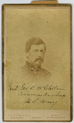Portrait of Gen. George B. McClellan, circa 1861. John M. Sell Civil War Collection. Civil War Narratives.