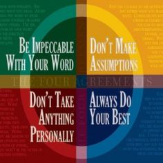 The Four Agreements - Social Skills That Everyone Should Learn. http://www.sound-shift.com/blog/the-four-agreements-social-skills-that-everyone-should-learn/