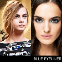 A pop of blue liner is a simple way to add a fun and modern edge to any outfit.