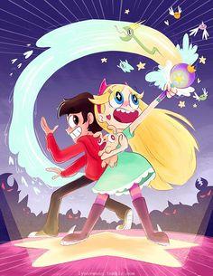 star e marco Arte Disney, Disney Xd, Cartoon Shows, Cartoon Art, Star E Marco, Starco Comic, Princess Star, Evil Art, Star Butterfly