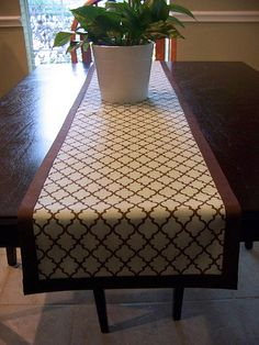 Easy table runner.  no sewing but not too rustic!
