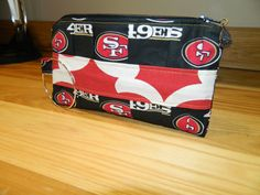 Hand Pleated 49ers Clutch Purse by OhSewCuteBags on Etsy, $15.00