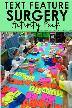 Feature Surgery Activity Pack Set the Stage to Engage with this complete classroom transformation pack! Your students will dissect text features from informational text, use task cards to organize features, and break down nonfiction passages. Set the Stag Reading Lessons, Reading Skills, Teaching Reading, Reading Projects, Math Lessons, Learning, 3rd Grade Classroom, Classroom Fun, Classroom Activities