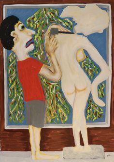Sculptor/Maarit Korhonen, acrylic, oil sticks, canvas, 92cm x 65cm Dark Paintings, Original Paintings, Online Painting, Artwork Online, Dancer In The Dark, Autumn Painting, Original Art For Sale, Artists Like, House Painting