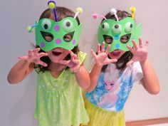 A Happy Mum | Singapore Parenting Blog: DIY alien masks