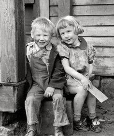 """April 1940. Dubuque, Iowa. """"Children who live in the slums."""""""