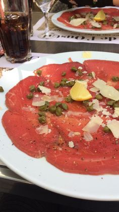 The carpaccio was delicious