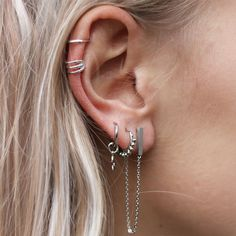 Piercing Ear Men Body Jewelry 51 Ideas For 2019 Ear Jewelry, Body Jewelry, Bridal Jewelry, Silver Jewelry, Jewelry Accessories, Fine Jewelry, Gold Jewellery, Silver Earrings, Jewelry Box