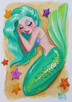 GenevieveKay Sketchbook — Mermaids 11 thru 20 of MerMay Mermaid Artwork, Mermaid Drawings, Mermaid Sketch, Siren Mermaid, Mermaid Cove, Disney Canvas Art, Mermaid Pictures, Mermaid Coloring, Mermaids And Mermen