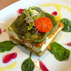 Raw lasagna from Flax & Kale here I Barcelona.
