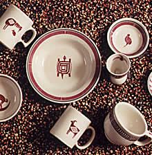 Mimbreno pottery, designed by Mary Jane Colter for Fred Harvey.  Pipestone China 1-800-652-8973