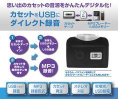 PC不要ダイレクトカセットコンバーター GEANEE CS-MP3D