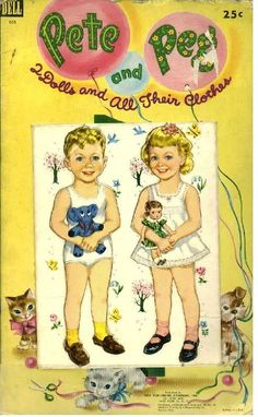 Pete & Peg 1951 * 1500 paper dolls at International Paper Doll Society by artist Arielle Gabriel ArtrA QuanYin5 Linked In QuanYin5 Twitter *