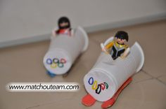 Olympic Bobsleigh for my Playmobils Olympic Games For Kids, Olympic Idea, Winter Olympic Games, Bobsleigh, Winter Activities, Preschool Activities, Theme Sport, Olympic Crafts, September Crafts